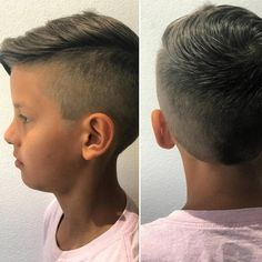 One-sided cut and puff style always appears an ideal combination. The same thing is here done in the styling of this little boy's hair given below in the image. This haircut will appear lovely on all the hair colors. So if you are impressed with this haircut, just style out this one on your boy's hair.