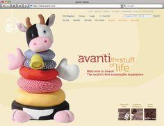 Avanti Website Design Mockup