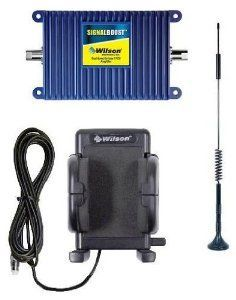 Wilson Electronics SignalBoost Cell Phone Signal Booster Kit for Car with Magnet Mount Antenna and Cradle - Single User Solution