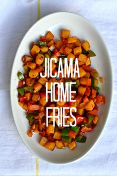 Jicama is such a GREAT substitute for potatoes. Try them in these Jicama Home Fries!