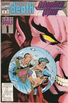 Wonder Man Vol. 2 # 22 by Jeff Johnson & Terry Austin Wonder Man, Human Torch, Lost Soul, Comic Book Covers, Childrens Books, Comic Art, Marvel Comics, Avengers, Graphic Novels