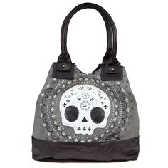 Lace Skull Tote Bag by Loungefly    http://tmblr.co/ZPNP8u1MtzNJJ  http://www.facebook.com/goreydetails http://twitter.com/GoreyDetails