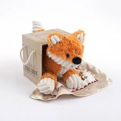 """""""Fox in a Box"""" blanket and plush toy gift - I want this!  :oD"""