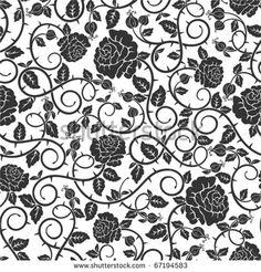 Thorn Pattern Stock Illustrations & Cartoons | Shutterstock
