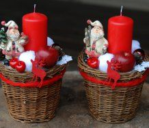 Vánoční dekorace- svícen Christmas Baskets, Christmas Mom, Christmas Wreaths, Xmas, New Year's Crafts, Diy Crafts For Gifts, Holiday Crafts, Christmas Centerpieces, Christmas Decorations