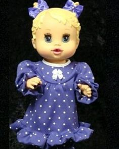 Baby Alive Doll Clothes, Baby Alive Dolls, Nightgown, Doll Accessories, Lavender, Satin, Pearl, Bows