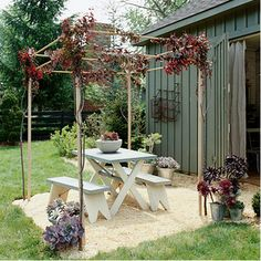 Spring will soon be here! Plan ahead and spruce up your yard--Better Homes  Gardens gives you five projects to add character to your backyard: http://www.bhg.com/home-improvement/outdoor/pergola-arbor-trellis/bring-character-to-your-backyard/#page=1