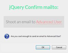 jQuery Confirm mailto