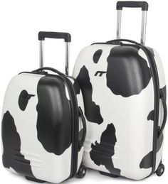 Moo Cow Print Suitcases @ www.bagsetc.co.uk
