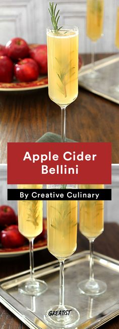 5. Apple Cider Bellini #healthy #fall #brunch #recipes http://greatist.com/eat/brunch-recipes-for-fall
