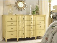Yellow dresser for t