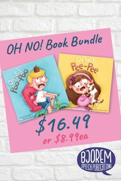 "Get both of the OH NO Books - OH NO Poo Poo and OH NO Pee Pee in this bundle! Making ""potty talk"" functional and fun! #childrensbooks #booksforspeechtherapy #pottytrainingbooks #speechtherapy Potty Training Books, Toilet Training, Phonological Awareness, Speech Therapy Activities, Early Literacy, Child Love, Speech And Language, Book Recommendations, Childrens Books"