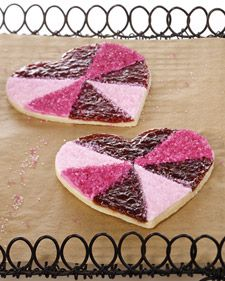 Jewel Heart Cookies from Lisel Arroyo and Diana Yen, courtesy of Martha Stewart, via Foodily.