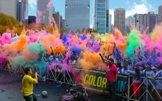 I have always wanted to run a marathon. To make it even better, I thought that running in a color run would be more fun!