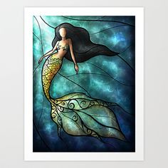 Shop for mermaid art from the world's greatest living artists. All mermaid artwork ships within 48 hours and includes a money-back guarantee. Choose your favorite mermaid designs and purchase them as wall art, home decor, phone cases, tote bags, and more! Mermaid Wall Art, Mermaid Drawings, Art Drawings, Mermaid Paintings, Mermaid Prints, Mermaid Canvas, Watercolor Mermaid, Mermaid Bathroom, Glass Painting Designs