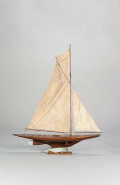 An Early Gaff Rigged 10 Rater Pond Yacht