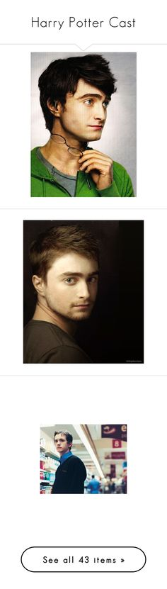 """""""Harry Potter Cast"""" by missymalfoy ❤ liked on Polyvore featuring harry potter, daniel radcliffe, people, hp, pictures, men, rupert grint, backgrounds, celebrities and matt lewis"""