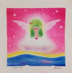 竹内香織が描いた、エンジェルブレッシングの、ゆるカワ天使ちゃんです♪