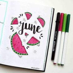 incredible June monthly spreads for your Bullet Journal? incredible June monthly spreads for your Bullet Journal! Get creative with cover pages with our 5 tips on how to create gorgeous simple and easy pages! Bullet Journal June, Bullet Journal Monthly Spread, Bullet Journal Cover Ideas, Bullet Journal Banner, Bullet Journal Lettering Ideas, Bullet Journal Notebook, Bullet Journal School, Bullet Journal Ideas Pages, Bullet Journal Inspiration