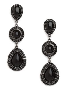 Ebony Triple Drops. Perfect complement for the Little Black Dress.