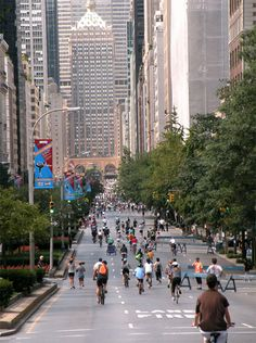 """Can't wait for Summer Streets again! Park ave. """"summer streets"""", NYC"""