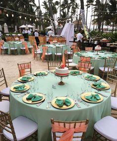A wedding reception mid-set up! This shows the work behind the scenes for a destination wedding!