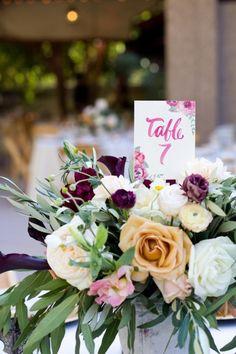 Gorgeous centerpiece! | A Romantic Cranberry, Maroon & Blush Wedding