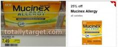 Target: Over 50% OFF Mucinex Allergy with Cartwheel and manufacturer's coupon! - http://www.couponaholic.net/2015/02/target-over-50-off-mucinex-allergy-with-cartwheel-and-manufacturers-coupon/