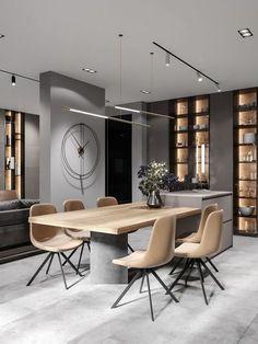 Kitchen Room Design, Modern Kitchen Design, Dining Room Design, Home Decor Kitchen, Interior Design Kitchen, Dining Room Modern, Dinning Room Ideas, Kitchen Ideas, Design Apartment