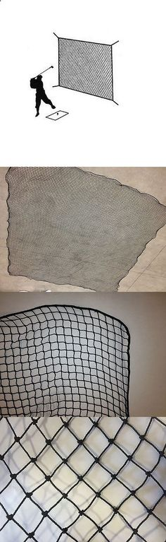 Nets Cages and Mats 50876: Golf Net Black Practice Driving Impact Screen Netting Roped Edges 10 X 10 BUY IT NOW ONLY: $58.54