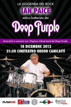 Ian Paice live in Canicattì 18 December 2012. Odeon.