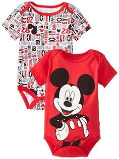 e1f4f49c6fdb Amazon.com  Disney Baby Baby-Boys Newborn Disney s Monster Inc. 2 Pack  Bodysuit  Clothing