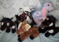 Lot 5 Horse Pony Stuffed Animal Plush Ganz DanDee Webkinz Aurora Cinderella | eBay