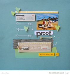Love this layout. Especially the ombre washi tape and thick twill ribbon!