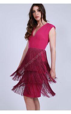 VESTIDO LISO FALDA FLECOS Dresses, Fashion, Vestidos, Bangs, Skirts, Wedding, Women, Moda, Fashion Styles