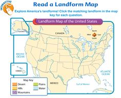 Interactive map - Landforms