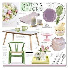 """""""Bunnies and chicks"""" by cly88 ❤ liked on Polyvore featuring interior, interiors, interior design, home, home decor, interior decorating, Baxton Studio, Teroforma, L'Objet and Juliska"""
