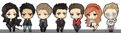 Teen Wolf Chibis : Left to Right - Allison A. / Scott M. / Issac L. / Derek H. / Stiles S. / Lydia M. / Jackson W.