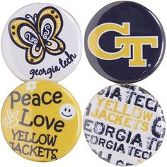 Instantly transform any outfit or bag into Georgia Tech swag!