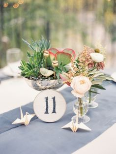 Origami inspired wedding table decor: http://www.stylemepretty.com/collection/2508/ Photography: YYZ - http://yyzphotography.com/