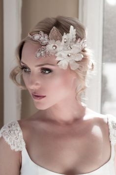 Vintage Alencon Lace Bridal Headpiece with by veiledbeauty on Etsy, $520.00