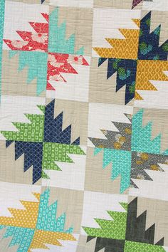 Diary of a Quilter - a quilt blog: Short-cut quilt preview and new fabric - I love the color combo!
