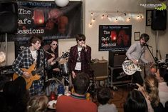 The Stoneage Romeos at Cafè Sessions last night. Pic by Paul Reynolds. PJ's by Pete!