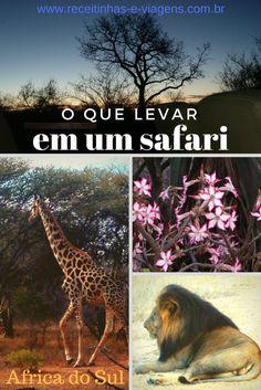 O que levar em um safari Knysna, Travel Around The World, Around The Worlds, South Africa Safari, West Africa, Round Trip, Trip Planning, Travel Destinations, Vacation