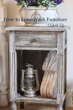 Easy Instructions How to LIME WASH furniture by Lilyfield Life. Remove door on downstairs cabinet Paint Furniture, Furniture Projects, Furniture Makeover, Home Projects, Refurbishing Furniture, Furniture Stores, White Washed Furniture, Distressed Furniture, Repurposed Furniture