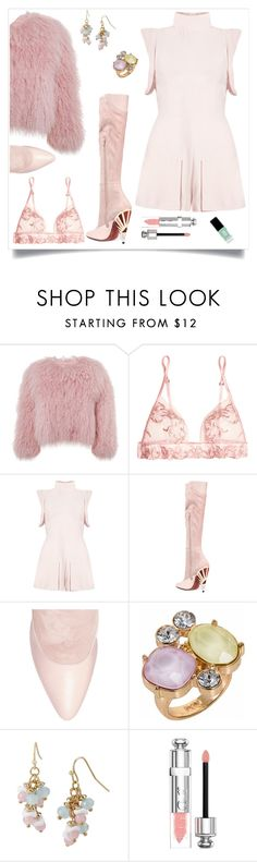 """Givenchy"" by tina-pieterse ❤ liked on Polyvore featuring Charlotte Simone, La Perla, Givenchy, Nadia Minkoff, Mixit, Christian Dior and JINsoon"