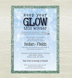 Rodan and Fields Skin Care Party Invite DIGITAL JPG ONLY by KatesKanvas on Etsy