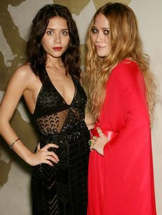 Mary-Kate and Ashley looking gorgeous in red and black with brunette and auburn hair. Get the...