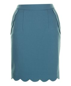 Take a look at this Sky Blue Gracie Pencil Skirt by Darling on #zulily today!