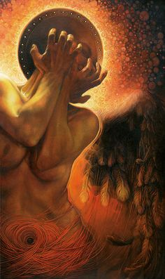Im in the shadow of you- oil on canvas, Graszka Paulska ©